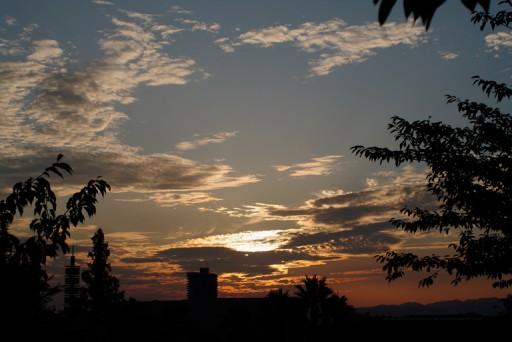ひらパーの夕空
