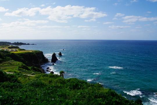 丹後の青い海
