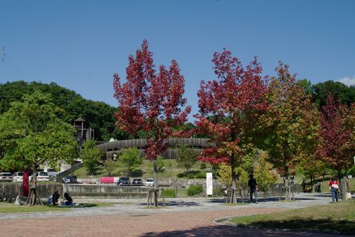 鴻ノ巣山運動公園入口にて