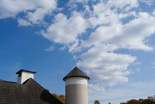 青空に煙みたいな雲